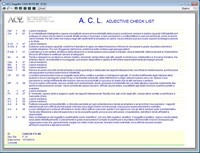 ACL Adjective Check List | Paolo Guccini